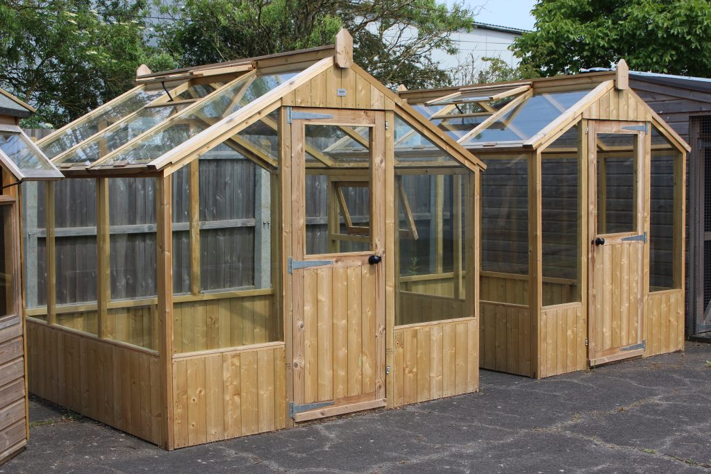 8 x 8 Redwood Greenhouse and 8 x 6 Redwood Professional