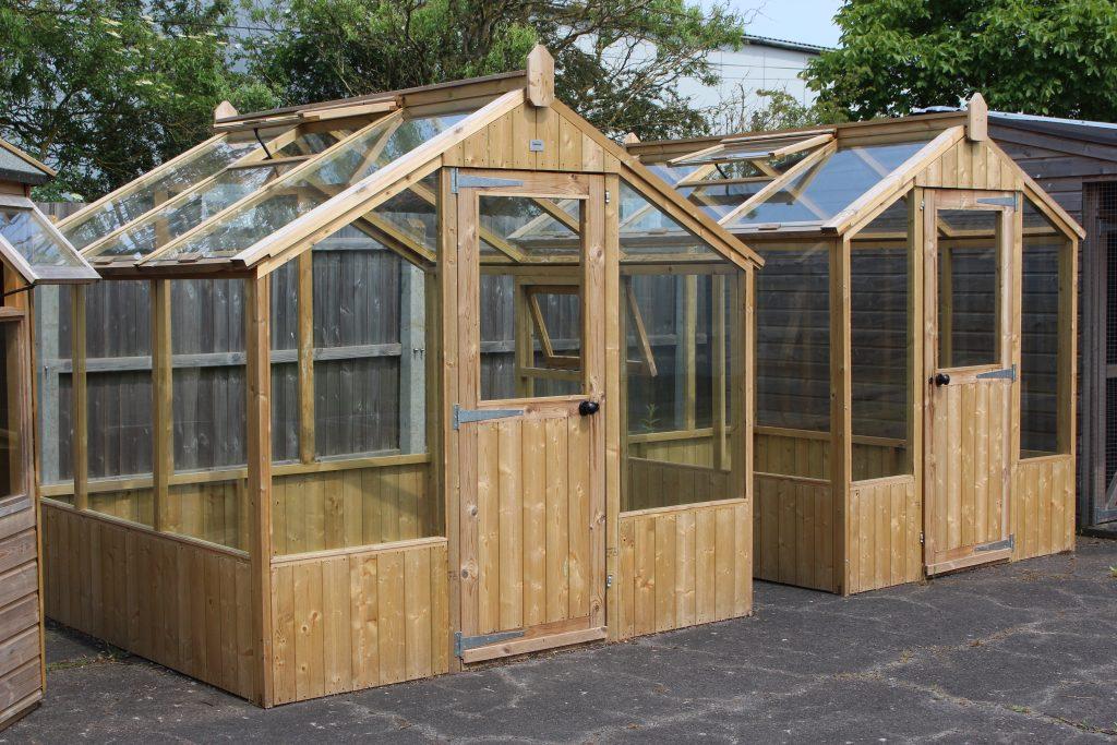 8 x 8 Redwood Greenhouse and 8 x 6 Redwood Professional